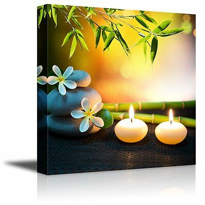 CANVAS PRINTS WALL Art - Relaxing Spa with Zen Stones, Burning ...
