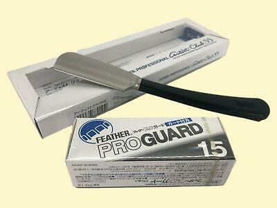 F/S Feather Professional artist club SS ACS-NB Straight Razor and Pro Guard 15