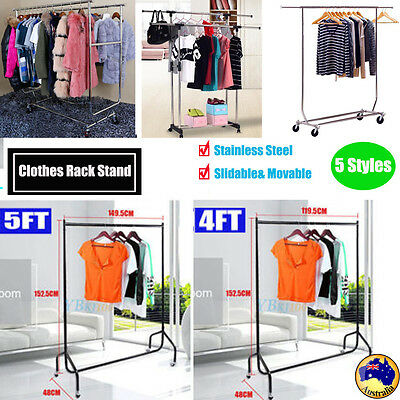 New Movable Portable Stainless Steel Clothes Organizer Hanger Rack Garment Dryer