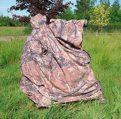 LIGHTWEIGHT CAMOUFLAGE BAG HIDE for Wildlife Bird Watching Photography
