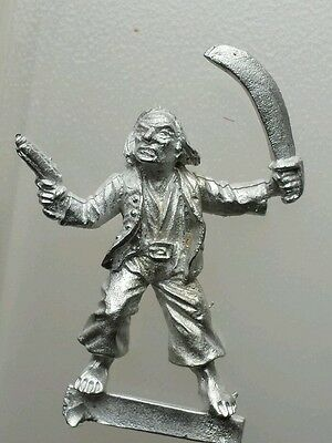 Thief rogue pirate robber metal  unknown maker pistol pointing & scimitar raised