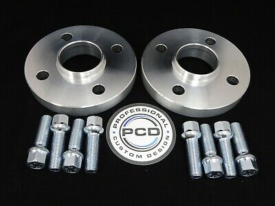 Pair 4x100 Hubcentric Spacers, 20mm Wide 57.1CB 8 RADIUS Bolts VW AUDI UK Made
