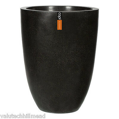 Capi Europe BV Lux III Elegant Low Vase, Colour: Black
