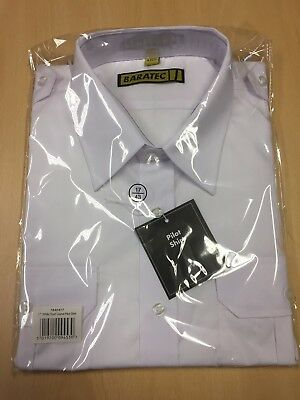 BRAND NEW With Tags White Short Sleeve Pilot Shirt