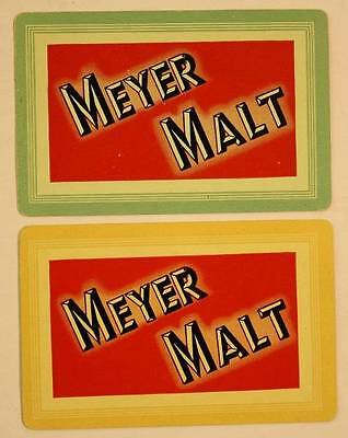 1940-50s Era Meyer Malt Beer / Ale brewery company 2-TWO playing card set-NICE!