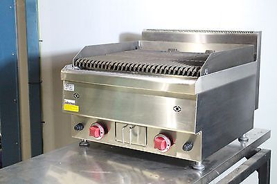 New Counter Top Gas Lava Rock Grill / Char Grill Cooker 2 burner Grill BBQ 600mm