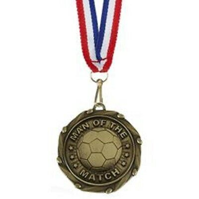 Man of the Match  Medals & Ribbons AM1055.12 - Engraved FREE - Man of the Match