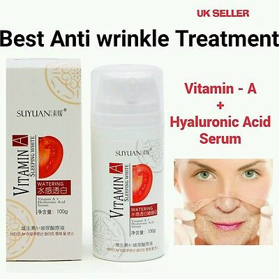 Vitamin A + Hyaluronic Acid Serum Extra Strong Wrinkle Firm Lift Skin Clarifying