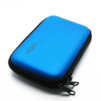 Light Blue Hard Case Protective Carry Cover Bag Pouch For Nintendo 3DS NDSI NDSL