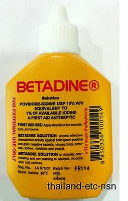 Betadine Solution Povidone-iodine First Aid Antiseptic wound 15cc 30cc