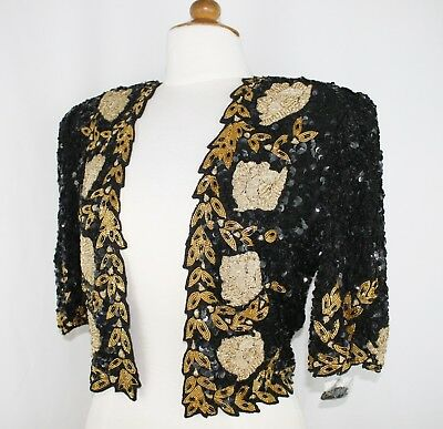 Jasdee Vintage Bolero Jacket HandWork Bead Sequins & Zari Emroidery On Silk 5011