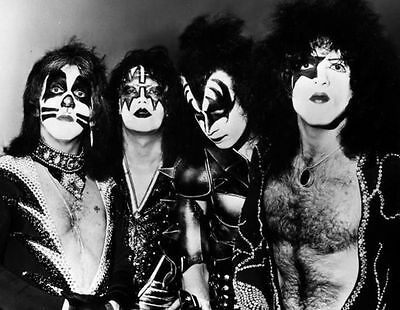 Kiss Paul Stanley, Gene Simmons Rock Band Glossy Music Photo Print Picture A4