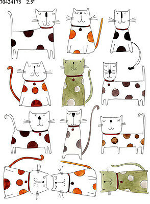 Ceramic Waterslide Decals Love Cats 70424175 FOOD SAFE LEAD