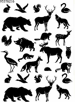 Ceramic Waterslide Decals Silhouettes 95376216 FOOD SAFE LEAD FREE
