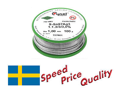 Solder Wire with 3% Silver Lead-free 100 g - Fast delivery