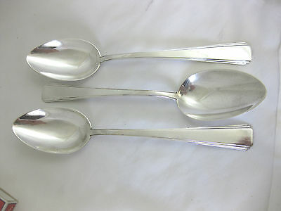 Solid Silver   Set of 3 ART DECO  TABLESPOONS  German 800/1000 Silver