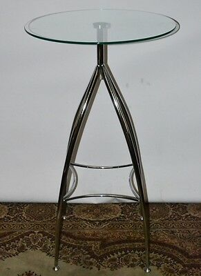 Vintage Chrome Glass Occasional Side Lamp Table - FREE Delivery [PL2024]
