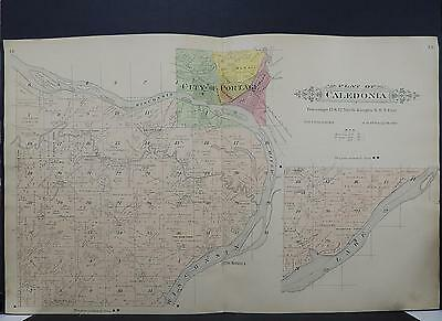 Wisconsin, Columbia County Map 1916 Caledonia Township Dbl Side/Pg K19#97