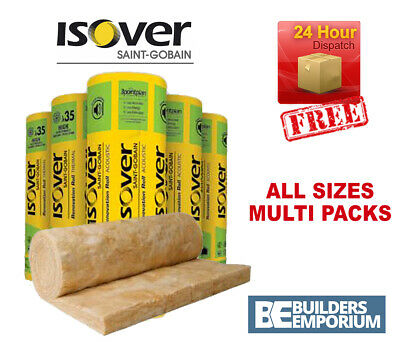 Isover Loft Insulation Spacesaver Roll Glass Mineral 100, 150, 170 and 200mm