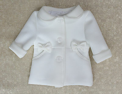 Baby Girls Coat Cream Christening Baptism Party Elegant Jacket  0 M -3 Years