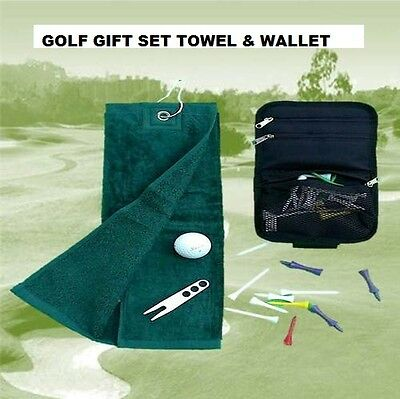 Brand New Velour Golf Towel And Wallet Set - Great Gift For A Golfer!