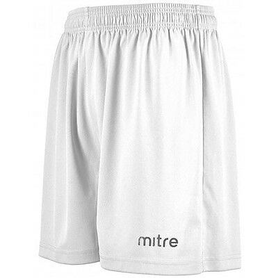 """Mitre Football Shorts Mens   Soccer Size X Large 36"""" White  New Xl"""