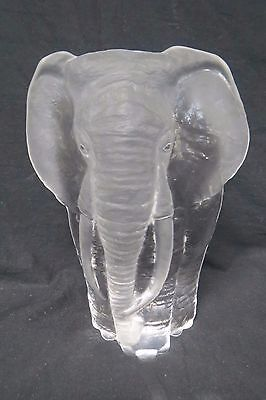 Mats Jonasson Signed Elephant Paper Weight Beautiful Piece Perfect Condition