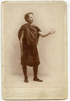 Geist's Antique Photo of Man in Roman or Greek Costume, Beloit Wis.
