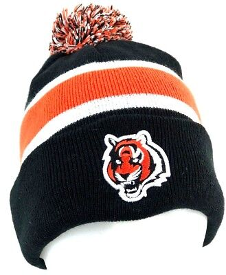 Cincinnati Bengals Football Black Orange Beanie Pom Cuff Cap Hat 24b16bbd7