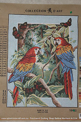 TAPESTRY CANVAS TO BE STITCHED - COLLECTION d'ART - MACAWS