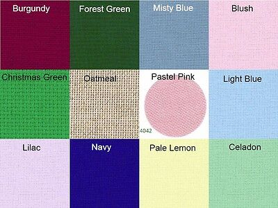 Zweigart 14 COUNT AIDA Cross Stitch Embroidery Fabric PICK 12 COLOURS & 6 SIZES