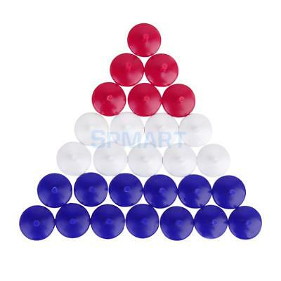 50 Mixed Color Plastic Round Golf Ball Markers Golfer Training Accessories