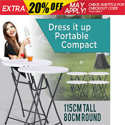 NEW High Bar Table Wedding Functions Party Coffee Pub Dining Portable Folding