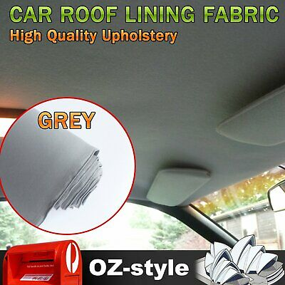 Grey Foam Fabric Repair Car Roof Lining Upholstery Liner Headlining 150 x 100CM