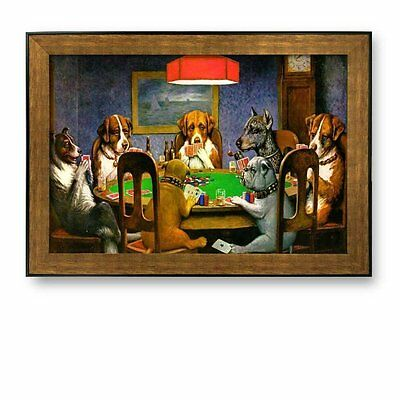 "Framed Prints- A Friend in Need (Dogs Playing Poker) by C.M. Coolidge- 16"" x 24"""