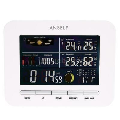 Wireless Weather Station LCD Forcast Thermometer Barometer Moon Phase Display
