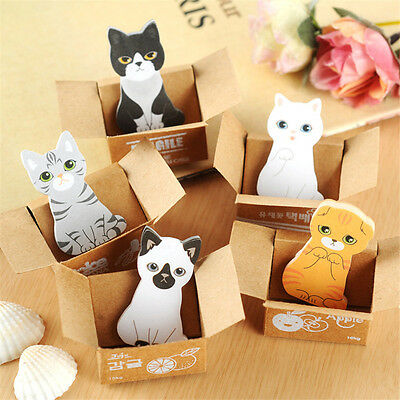 Scrapbooking Stickers Cute 3D Cartoon Cat Post It Diary Notes Office Stickers