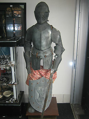 Replica suit of armour with sword and shield Sir lancelot Knight medieval