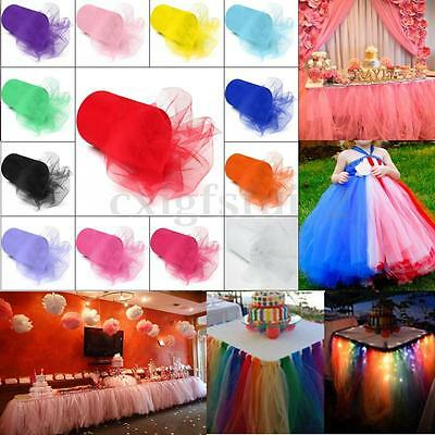 TULLE Roll TUTU Spool 6''x100Yard Soft Netting Wed Bridal Party Bow Decoration