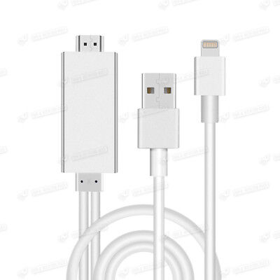 Apple Lightning auf AV HDMI-TV-Kabel-Adapter für iPhone 5 5C 5S 6 6S 6 Silber