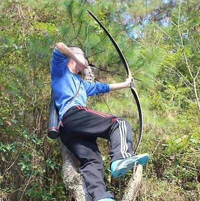 Archery 45Lbs Hunting 68'' English Traditional Wooden Longbow Training Practice