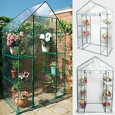 Outdoor 3-Tier 4 Shelf Mini Frame Walk-in Growhouse Garden Greenhouse with Cover