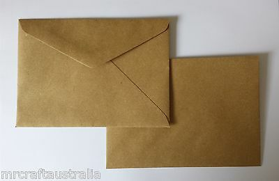 100 Envelopes 130mm x185mm BROWN KRAFT Quality fits 5 x 7 fits PHOTO 90GSM