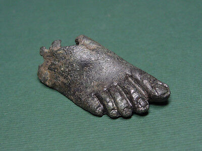 Ancient Bronze Foot Amulet Roman 100-300 Ad