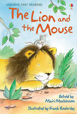 NEW USBORNE First Reading ( LEVEL ONE ) THE LION and the MOUSE paperback 1