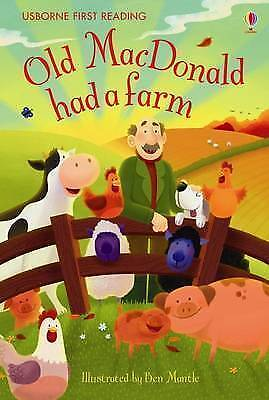 NEW USBORNE First Reading ( LEVEL ONE ) OLD MACDONALD HAD A FARM  paperback 1