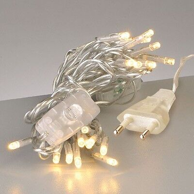 Mini-LED-Lichterkette m. Schalter 20er transparent NEU