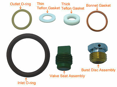 Scuba Valve Service Kit Spare Parts Rebuild Kit for Yoke Type # KIT-K5