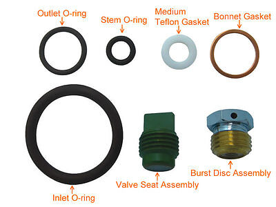 Scuba Valve Rebuild Kit ALL Viton O-rings for Yoke Type # KIT-K1