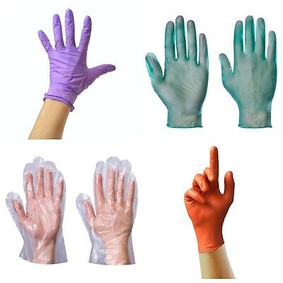 100 Medical Purple Powder Vinyl & Latex Free Nitrile Disposable Gloves Strong